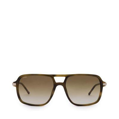 LOEWE Canyamel Sunglasses Havana/Green front