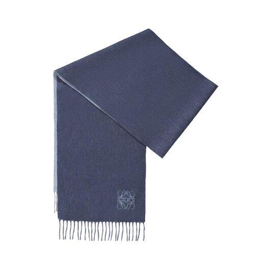 LOEWE 30X180 Anagram Scarf Denim Blue/Light Denim Blue all