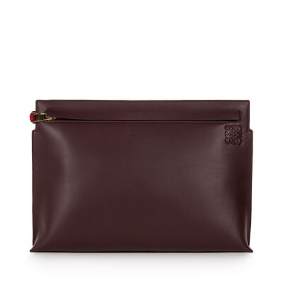 LOEWE T Pouch Oxblood/Rouge front