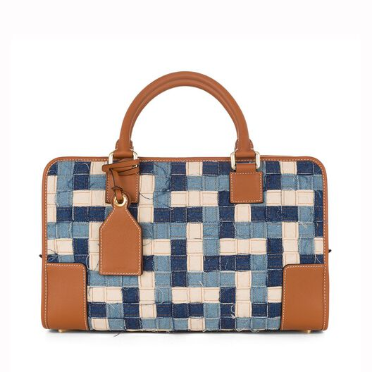 LOEWE Amazona Bag Blue Multitone/Tan all