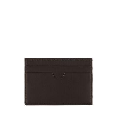 LOEWE Flat Card Holder Black/Kakhi Green front