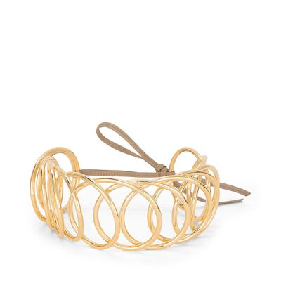LOEWE Wire Choker Gold front
