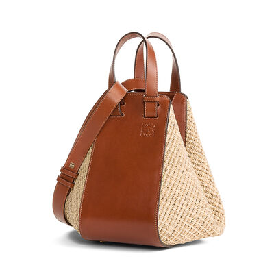 LOEWE Hammock Raffia Small Bag Natural/Tan front
