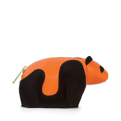 LOEWE Panda Coin Purse Black/Orange front