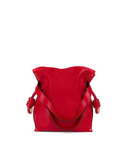 LOEWE Flamenco Knot Small Bag Rouge/Primary Red front