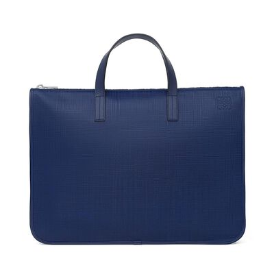 LOEWE Briefcase Navy Blue front