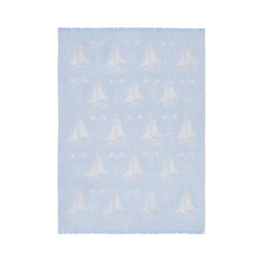 LOEWE 100X140 Small Boats Blanket Light Blue all