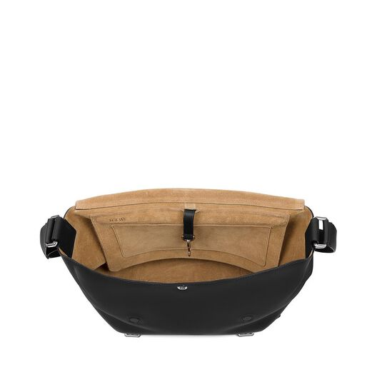 LOEWE Military Messenger Bag Black all