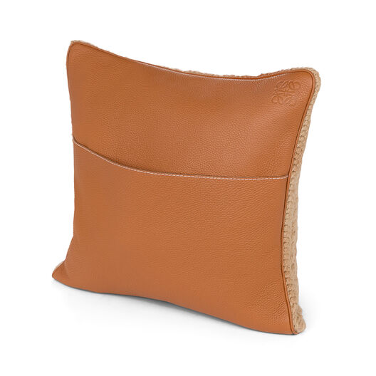 LOEWE Cojin Hand Knitted 3 40X40 Camel/Marron Oscuro all