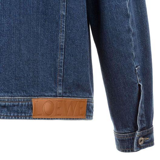 LOEWE Stonewashed Denim Jacket Indigo all