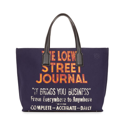 LOEWE T Shopper St Journal Xl Bag Navy Blue front