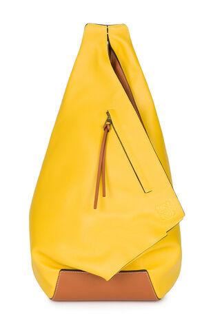 LOEWE Anton Backpack Yellow/Tan front