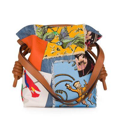 LOEWE Flamenco Knot Paulas Ibiza Bag Multicolour front