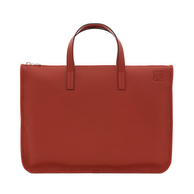 LOEWE Briefcase Rust Red front
