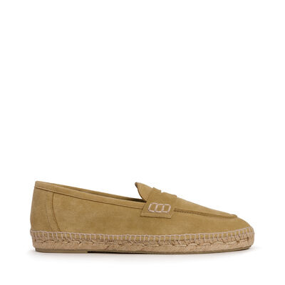 LOEWE Loafer Espadrille Oro front