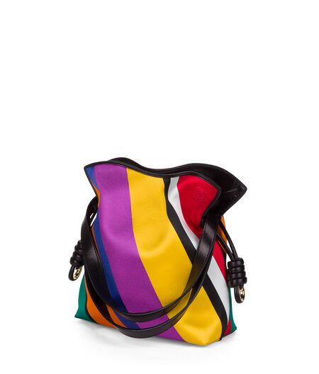 LOEWE Flamenco Knot Stripes Smll Bag Multicolour all