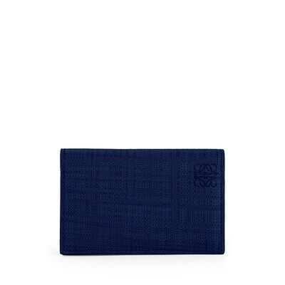 LOEWE Business Card Holder Navy Blue front