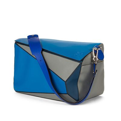 LOEWE Puzzle Xl Bag Blue Multitone front