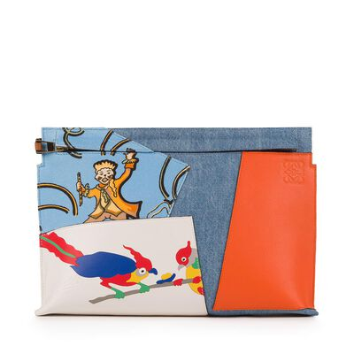 LOEWE T Pouch Paulas Ibiza Patchwork Multicolour front