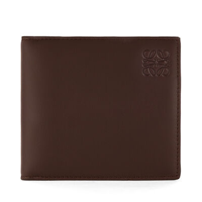 LOEWE Bifold/Coin Wallet Chocolate/Burgundy front