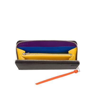 LOEWE Zip Around Wallet Rainbow Multicolor/Black front