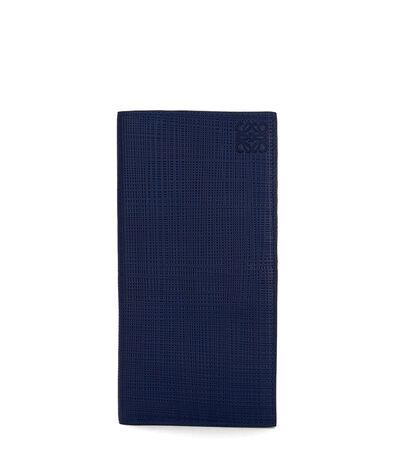 LOEWE Long Vertical Wallet ネイビーブルー front