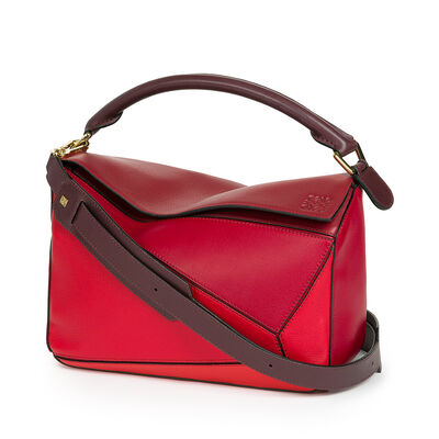 LOEWE Puzzle Bag Red Multitone front