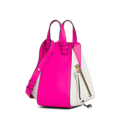 LOEWE Hammock Small Bag Shocking Pink/White front