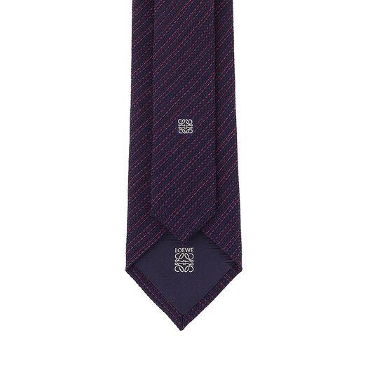 7Cm Corbata Costura Diagonal