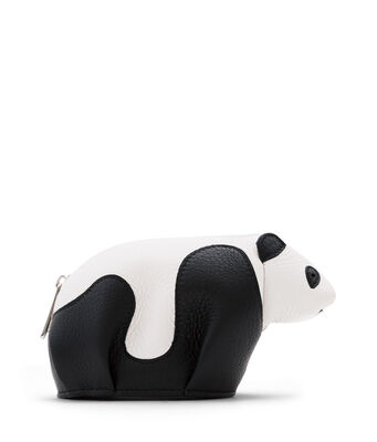 LOEWE Panda Coin Purse Black/White front