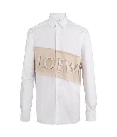 LOEWE Loewe Patch Shirt White/Natural front