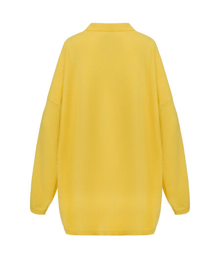 LOEWE Oversize Poloneck Sweater Yellow all