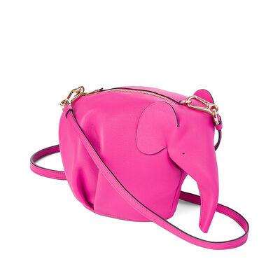 LOEWE Elephant Mini Bag Fuchsia front