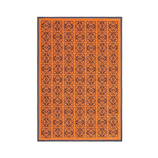 LOEWE Big Monograms Jacquard Towel Navy/Orange all