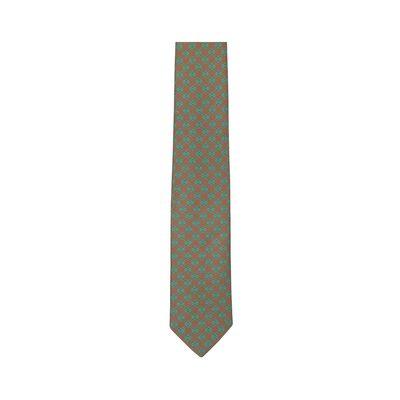 LOEWE 7Cm Dots Anagram Tie Green front