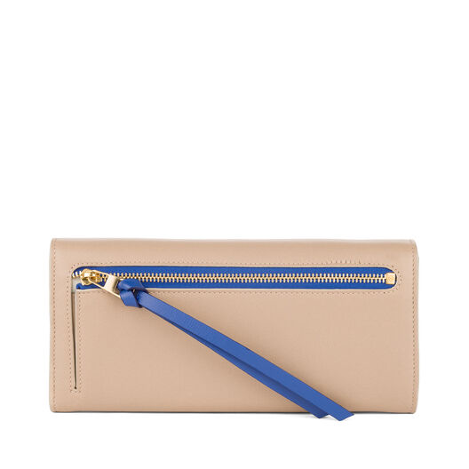 LOEWE Continental Wallet Sand/Electric Blue all