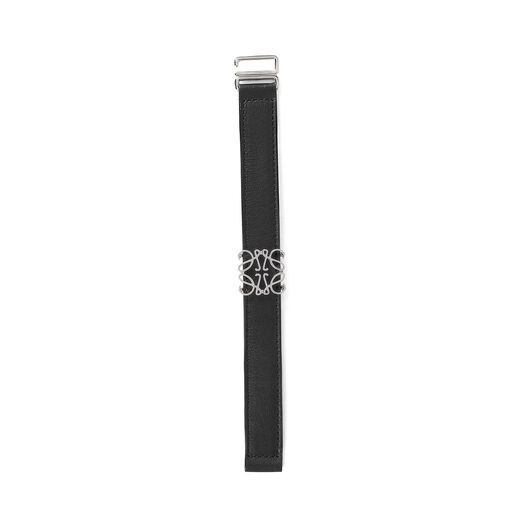 LOEWE Pulsera Cinturón Anagrama Negro/Paladio all