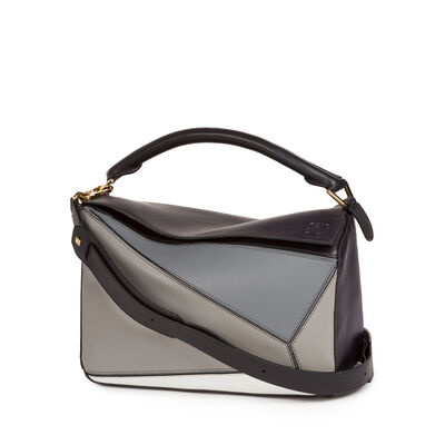 LOEWE Puzzle Bag Grey Multitone front