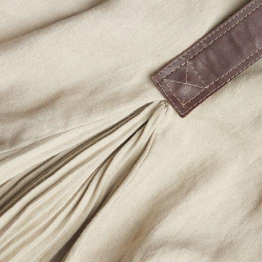 LOEWE Ov Coat W/ Leather Panels Hemp all
