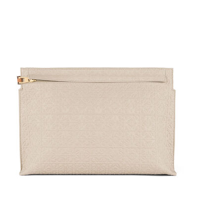LOEWE T Pouch Natural/Tan front