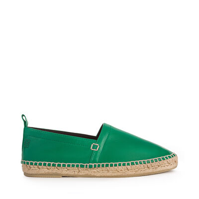 LOEWE Espadrille Nappa Green front