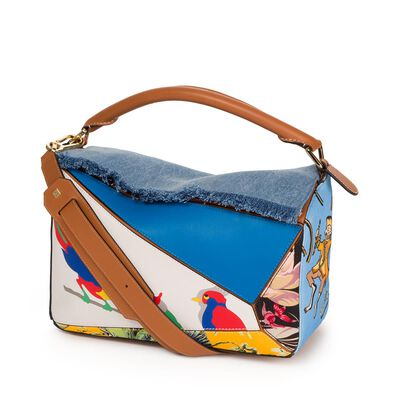 LOEWE Puzzle Paulas Ibiza Bag Multicolour front