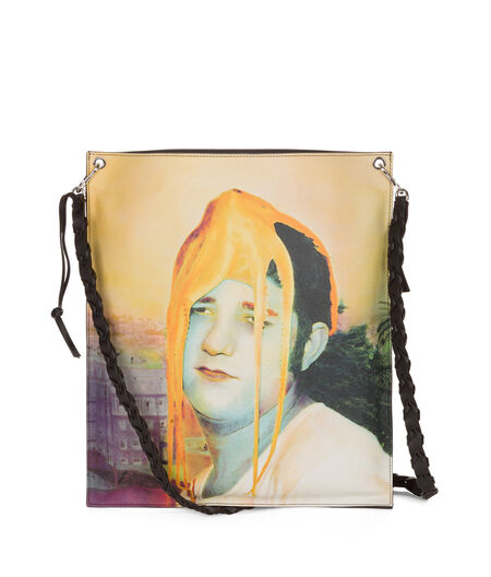 LOEWE Flat Shoulder Ouka Leele Bag Multicolor/Yellow all