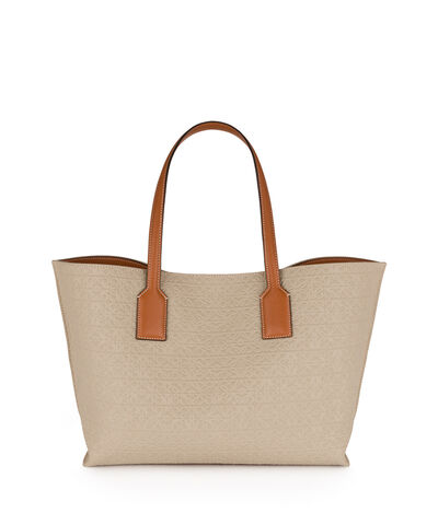 LOEWE T Shopper Bag Natural/Tan front
