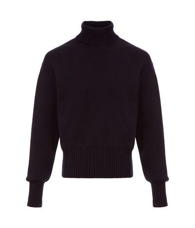 LOEWE Turtleneck Sweater Navy Blue front