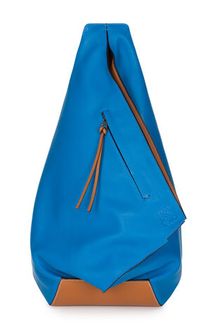 LOEWE Anton Backpack Turquoise/Tan front