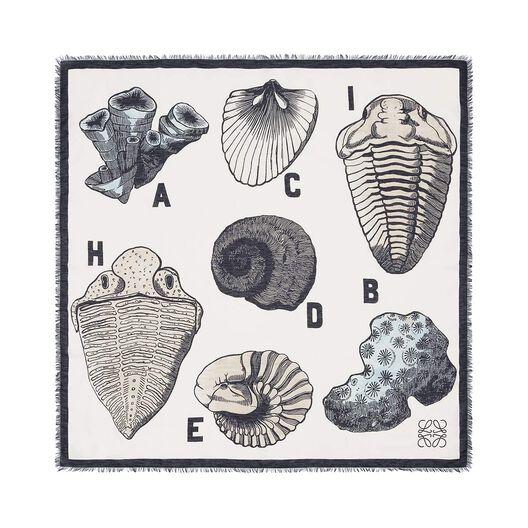 120X120 Fossil Print Scarf