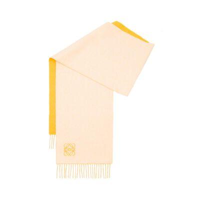 LOEWE 30X180 Anagram Scarf Yellow/White front