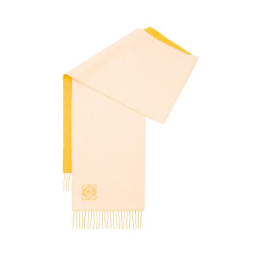 LOEWE 30X180 Anagram Scarf Yellow/White all