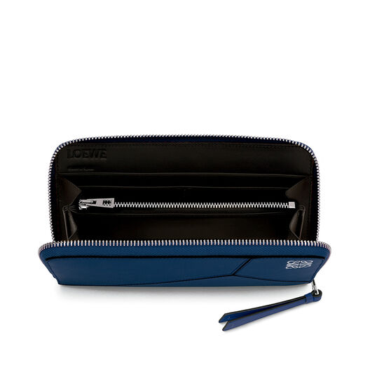LOEWE Puzzle Zip Around Wallet Navy Blue all